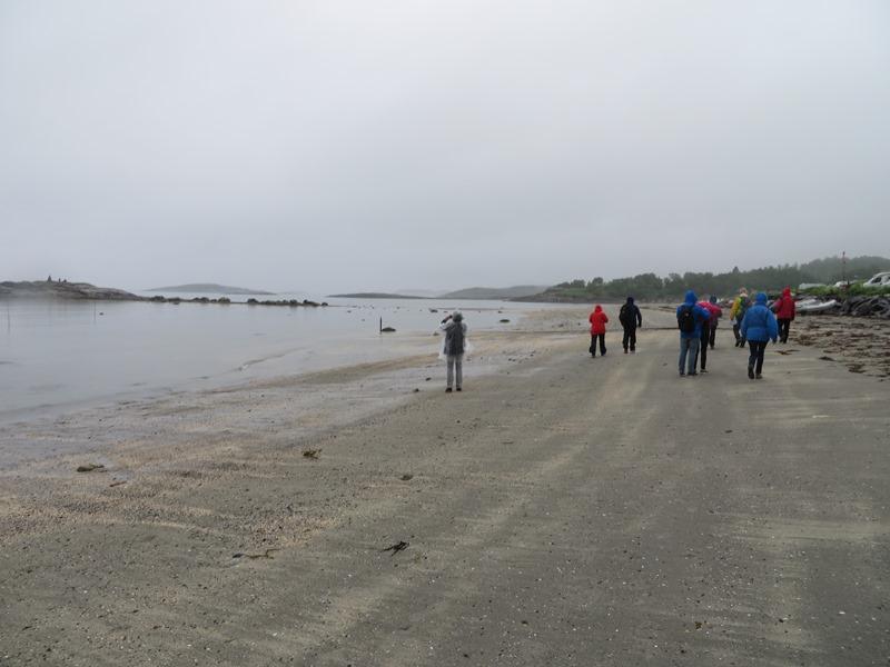 Spazieren am Strand bei Bodö