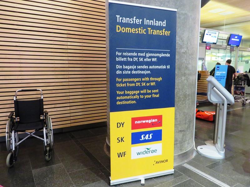 Umsteigen in Oslo, Gepäck durchchecken oder entgegen nehmen?