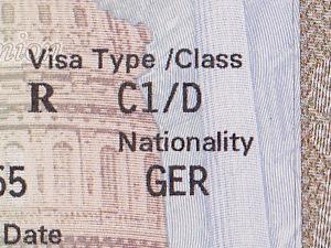 C1D Visum in meinem Pass