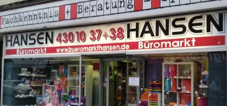 Empfehlung Büromarkt Hansen