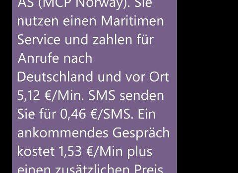 Mit dem Handy auf See – Vorsicht!