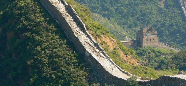 Auf der Chinesischen Mauer wandern